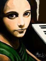 ALCUNE DELLE OPERE ESPOSTE - Da sinistra a destra, dall'alto in baso, opere di: Lory Tricomi, Milena Crupi, Giuseppina Martinez, Carmelo Marchese, ... - Crupi,-opera